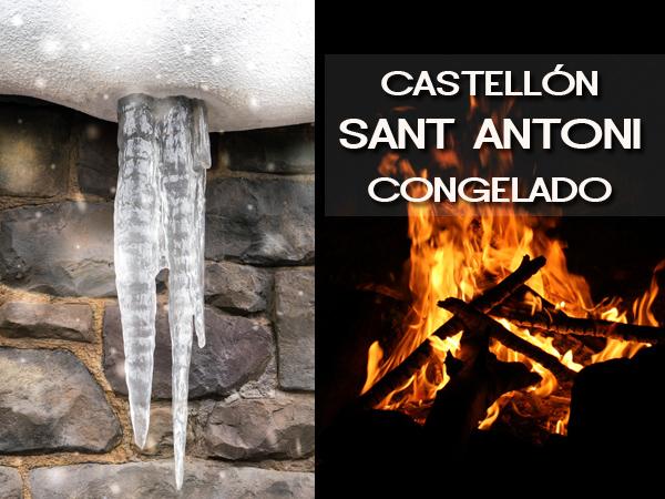 Castellón se congela para Sant Antoni: ola de frío, viento, nieve.