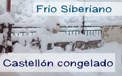 Frío siberiano congela Castellón. Nieve, lluvias, viento y cortes de luz.