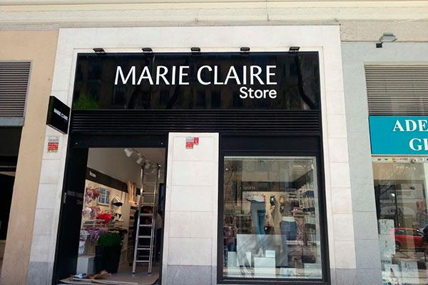 Instalación de conductos de climatización en tienda de Marie Claire en Madrid